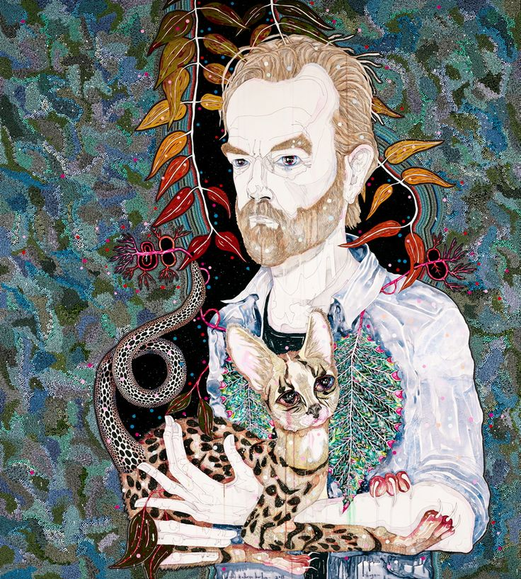 Del Kathryn Barton Subject: Hugo Weaving for the archibald prize 2013. Good luck Del.