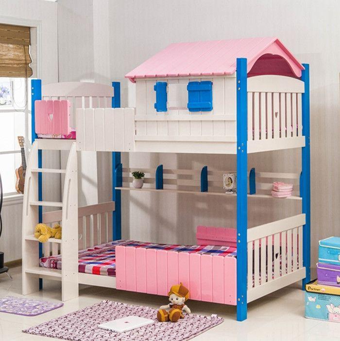 На уровне детская двухъярусная кровать кабина цвет твердой древесины двухъярусные кровати для детей, Детская мебель для спальни две кроватикупить в магазине Furniture  Flagship storeнаAliExpress