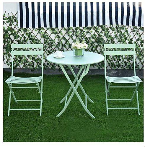 md group patio table chair set foldable metal green iron light rh pinterest com