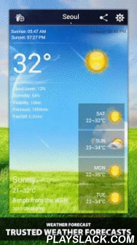 """Weather Ultimate  Android App - playslack.com ,  The most professional weather forecast app. Turn your mobile phone as a weather station !The Weather app is specifically designed to be as simple and intuitive as possible. With just one click you receive the weather condition in your status bar at your current location.By accessing the most professional weather Database, """"Weather Ultimate"""" can get the most accurate weather information at any time and any place. like in the United States or in…"""