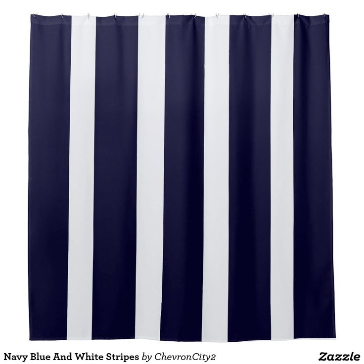 Navy Blue And White Stripes Shower Curtain Blue Curtains And Stripes