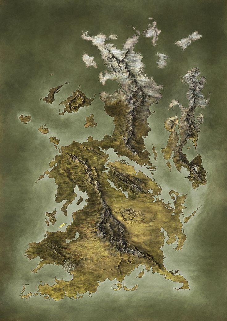 Handpainted Fantasy Map 105 best Fantasy World