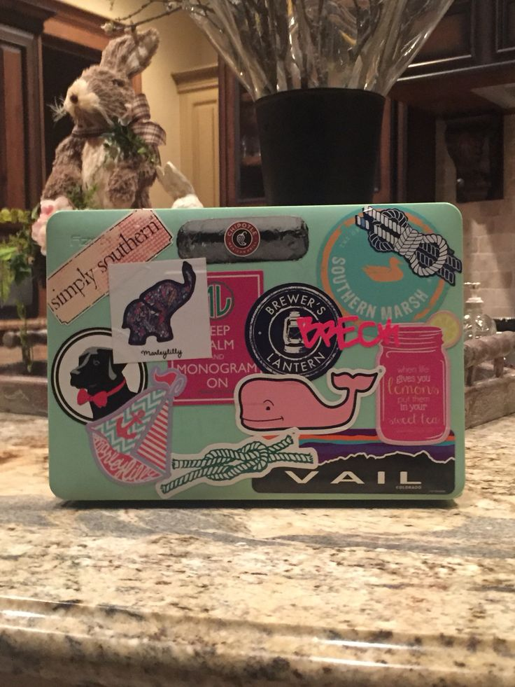 Preppy Laptop Stickers #prepster
