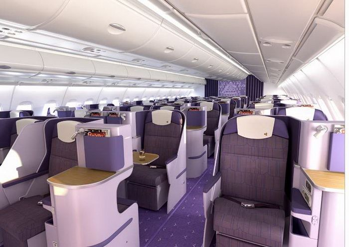 Thai Airways A380 Royal Silk Business Class Cabin