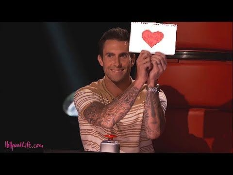 Beautiful Girl Surprised Adam in The voice - YouTube
