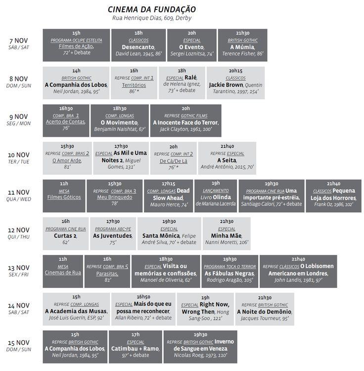 Programação   VIII Janela Internacional de Cinema do Recife