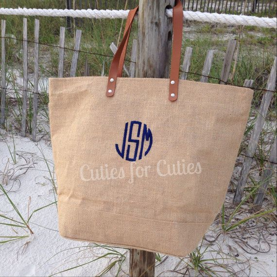 Monogrammed Bridal Party Tote Bag by CutiesforCuties on Etsy