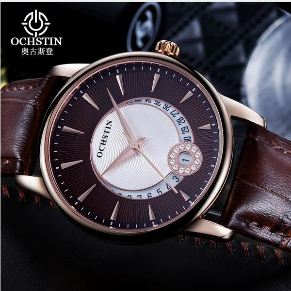 OCHSTIN LQ060 Fashion Rhinestones Women Quartz Watch Luxury Leather Strap Wrist Watch at Banggood