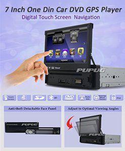 7 «1 Din WinCE Car Universal Navigation GPS Lecteur DVD au tableau de bord Panneau avant amovible Auto Radio Audio StšŠršŠo avec FM AM RDS…