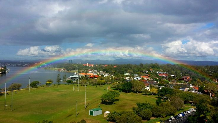 Rainbow over James Overall Park