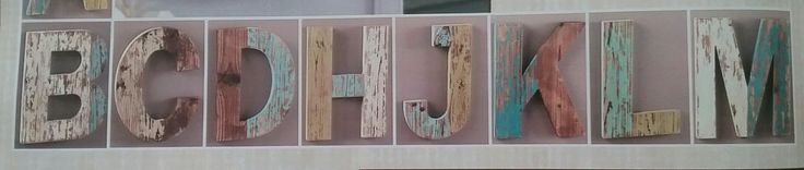 Small wood project-rustic letters