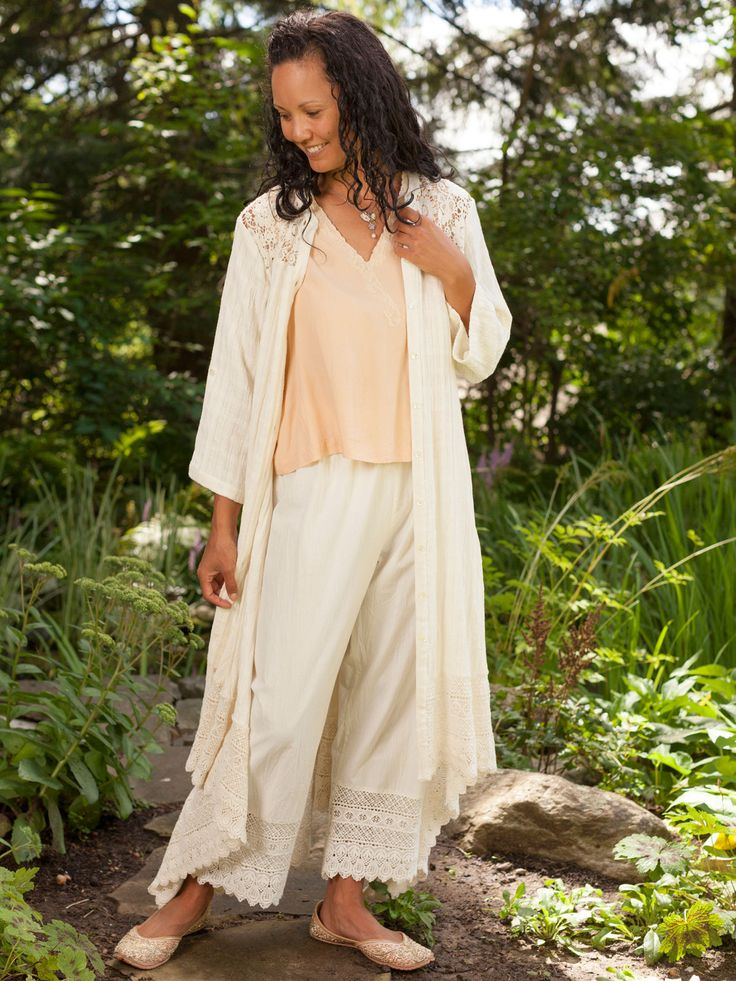 Our crisp, cotton Pantaloons are perfect for layering under dresses for a delightfully romantic, Victorian look. Made in specially curated Indian cotton, these pants feature a deep, scalloped hem made from beautifully finished crochet lace. Pair with lace cuffs and collars.