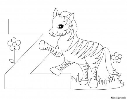 printable animal alphabet worksheets letter z for zebra printable coloring pages for kids - Printable Coloring Letters