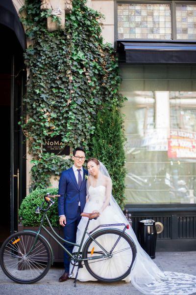 So sweet! http://www.stylemepretty.com/new-york-weddings/new-york-city/2015/06/29/modern-nyc-wedding-at-the-nomad-hotel/   Photography: Sally Pinera - http://sallypinera.com/