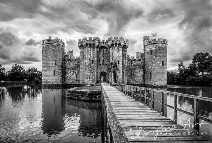 This black & white image of Bodiam Castle in Kent, England won Gold in the Societies' November 2014 Monochrome competition
