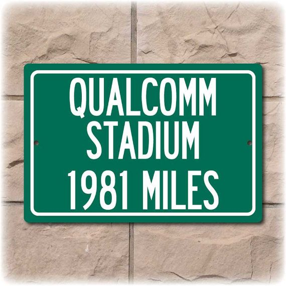 Personalized Football Stadium Highway Distance Sign by Travelsigns, $19.95
