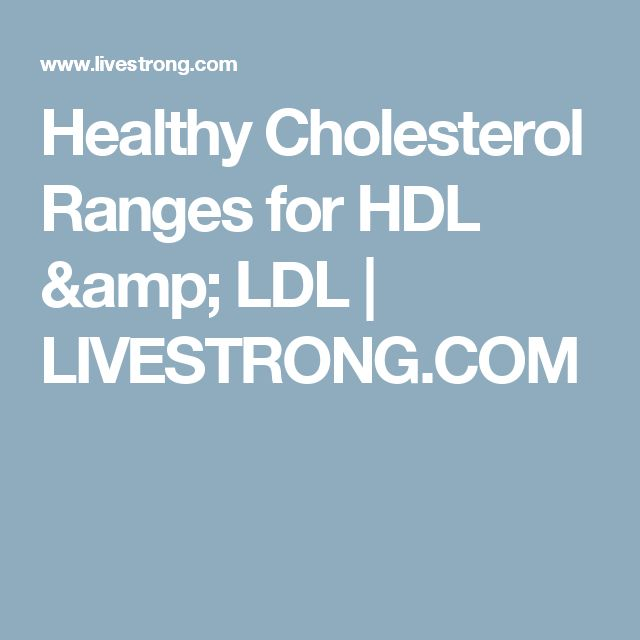 Healthy Cholesterol Ranges for HDL & LDL | LIVESTRONG.COM