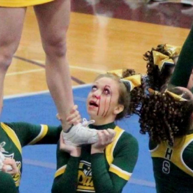 Only in cheer...you keep going- omg this is sso true