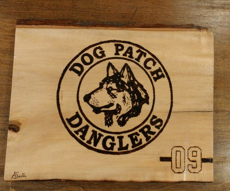 #hockey #logo #dogpatch #dogs #woodburning #custom
