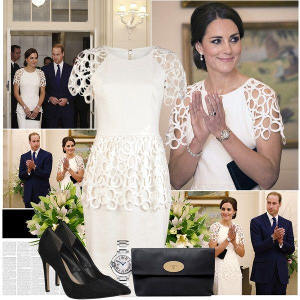 Белое кружевное платье Кейт Миддлтон, фото.