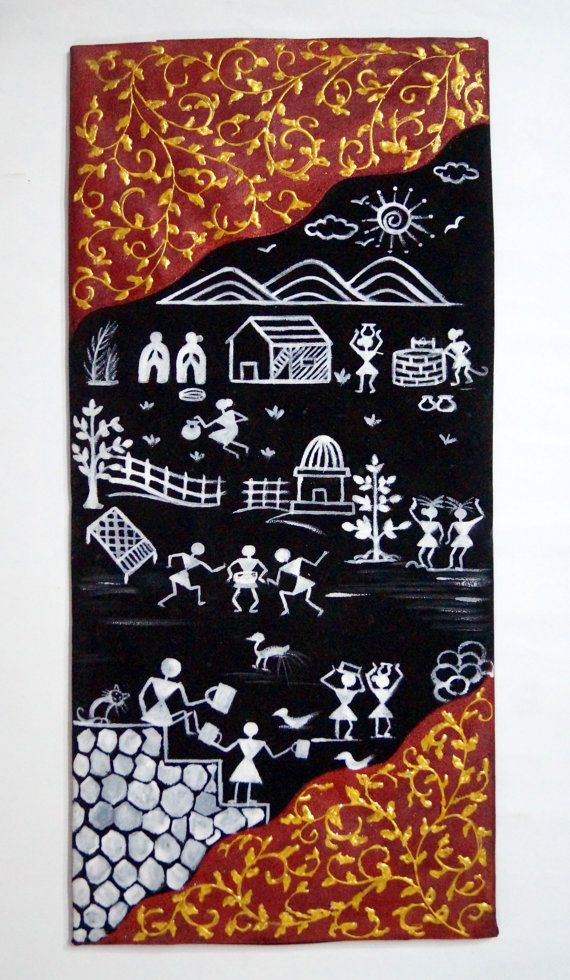Warli Artpiece by thexploringmns on Etsy