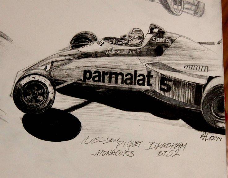 Brabham BT52 - piloted by Nelson Piquet. Loews Hairpin Monaco 1983  www.motorart27.com #artistcommunity #successartist #growyouraudience #artempire #GordonMurray #NelsonPiquet #Brabham #BMW #MPower #ink #inkillustration #illustration #racingart #motorsportart #Formula1art #F1art #FormulaOneArt #racing #FormulaOne #Formula1 #racingart #CarsDesign #GillesVilleneuve #RacingPaintings #Posts #MotorsRacing #F1Artworks