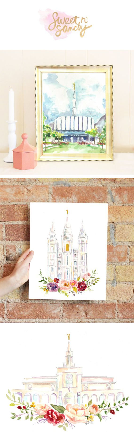 lds temple prints