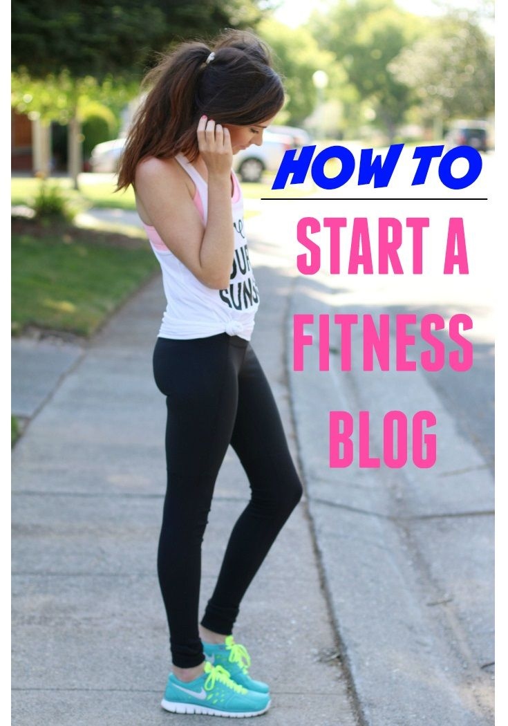 How to start a fitness blog. A step-by-step tutorial to get you started in under an hour!