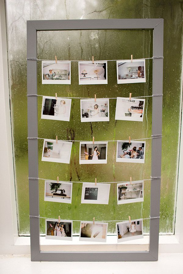An easy way to make a cool polaroid or photo hanging frame, awesome for your wedding or home.