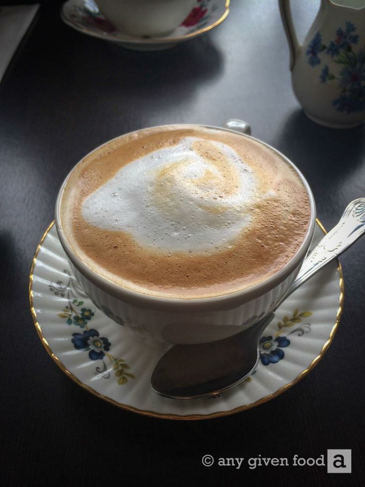 A #vintage hazelnut latte, if you can have one that's vintage. Pictured at The Vintage Tea Rooms, Gashouse Lane, Kilkenny. #coffee