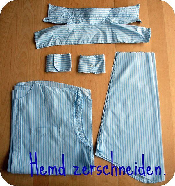 Tutorial: Kinderhemd aus Herrenhemd | Nahen | Pinterest | Sewing ...