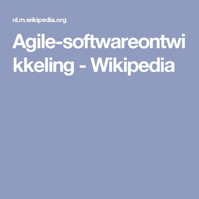 Agile-softwareontwikkeling - Wikipedia