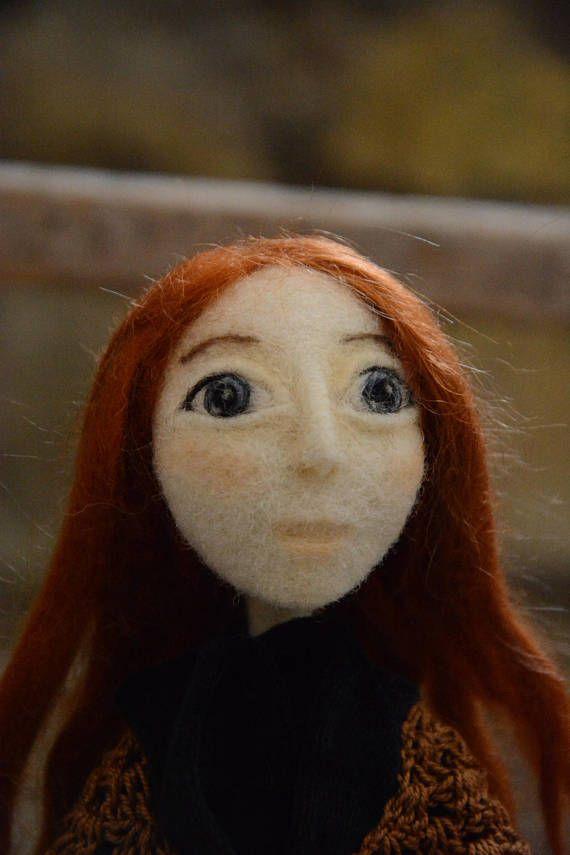 Art doll Mary Jane Kelly needle felted by Pupillae  ##needlefelting #needlework #artdoll #dollartist #heirloomdoll #woolsculpture #pupillae #handmadedoll
