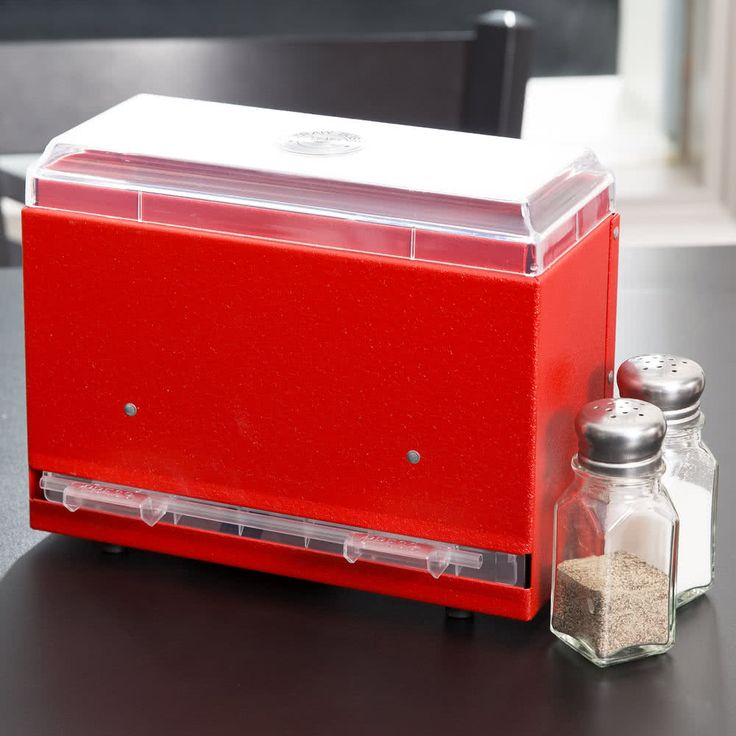 For the classroom...pencil dispenser?...    Vollrath 3825-02 Straw Boss Single Sided Bulk Straw Dispenser - Red