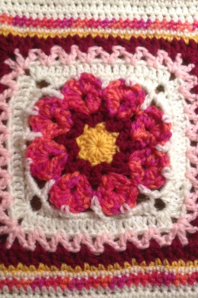 First granny square for the heirloom afghan I'm making for my daughter.