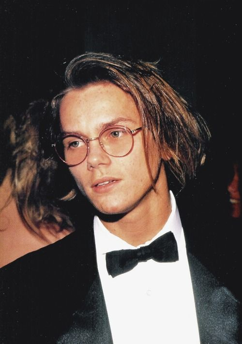 River Phoenix - I believe this is at the Oscars.  He looks high. I still loved him.