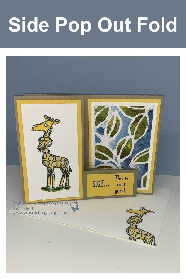 Fun Fold Encouragement Cards You Can T Miss Tx Stampin Sharon Fun Fold Cards Encouragement Cards Step Cards