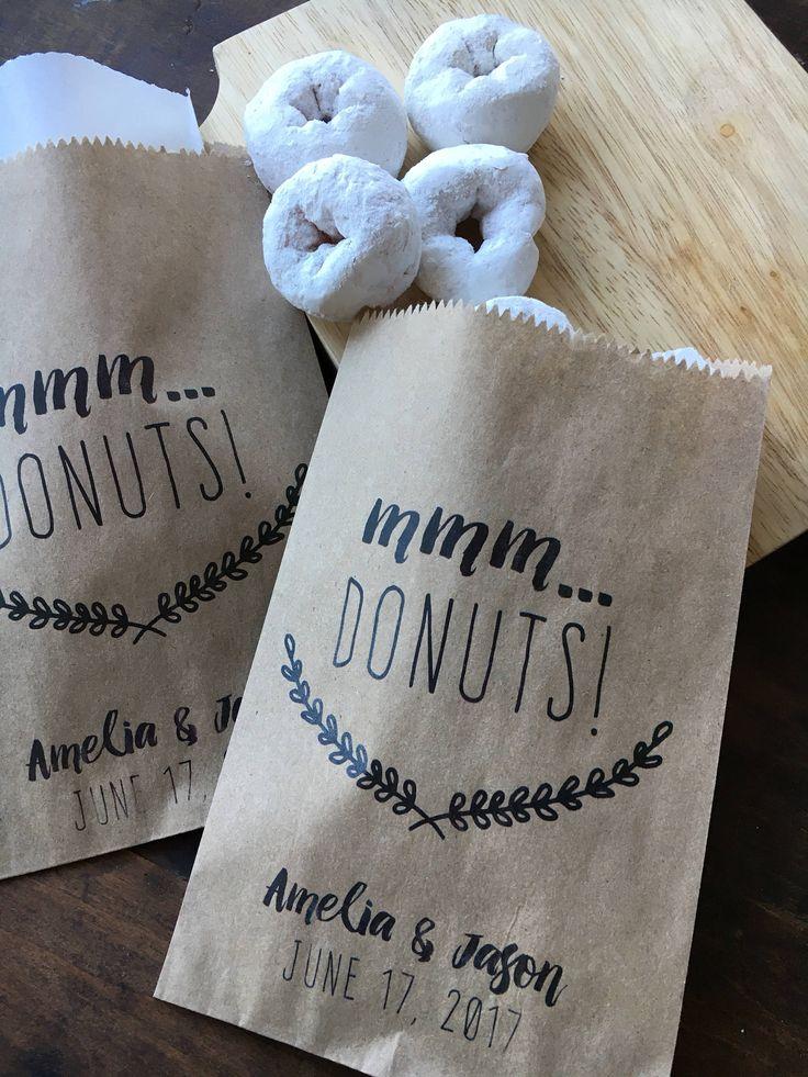 Donut Favor Bags, Doughnut To Go Take Home Bags, Wedding Favors, Donut ...