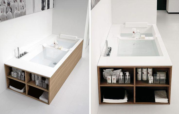 Экраны для ванны (52 фото): виды, материалы, процесс установки http://happymodern.ru/ekrany-dlya-vanny-50-foto-vidy-materialy-process-ustanovki/ Глухой экран под ванну с открытой боковой частью