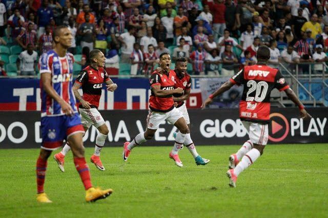 Flamengo vence o Bahia por 1 a 0 na Arena Fonte Nova e entra para o G-4