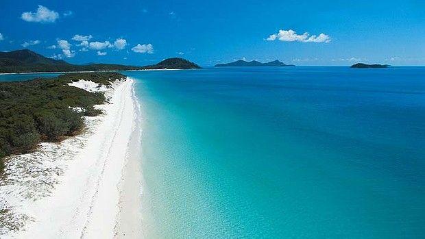 Australia's best beach? Whitehaven Beach on Whitsunday Island has been named the third best beach in the world.