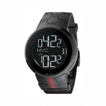 Unisex quartz ρολόι GUCCI i-Gucci με ψηφιακές ενδείξεις, μαύρη κάσα & μαύρο καουτσούκ | Ανδρικά & γυναικεία ρολόγια GUCCI ΤΣΑΛΔΑΡΗΣ στο Χαλάνδρι #Gucci #ψηφιακο #μαυρο #σιλικονη #ρολοι