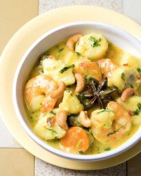 Indiase pastinaakcurry met scampi's, wortelen en banaan - Recepten - Culinair - KnackWeekend.be