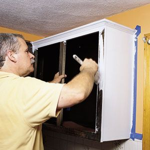 "Painting kitchen cabinets...""This Old House"" tips and tricks of the trade:"