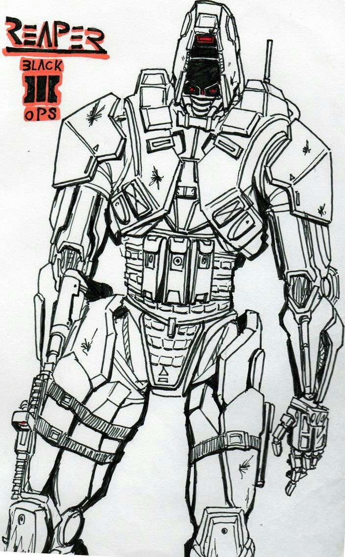 Pin By Short Round On Just Art Call Of Duty Call Of Duty Black Ops 3 Coloring Pages
