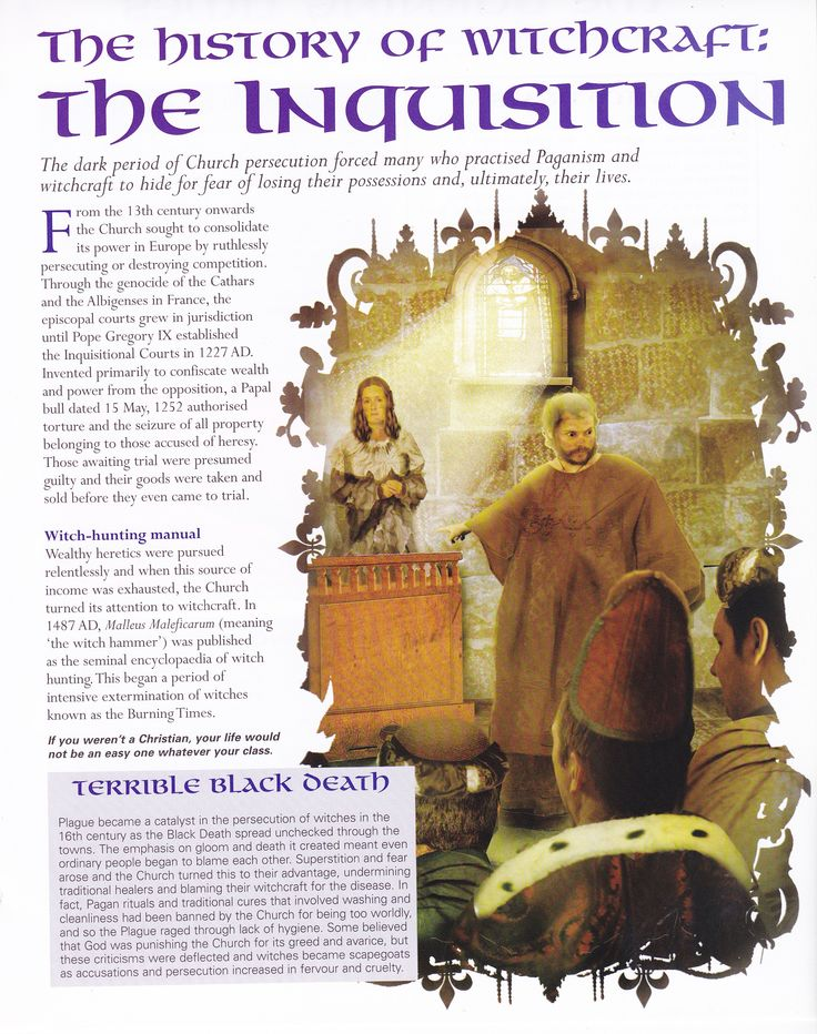 Book of Shadows:  #BOS The History of Witchcraft ~ The Inquisition page.