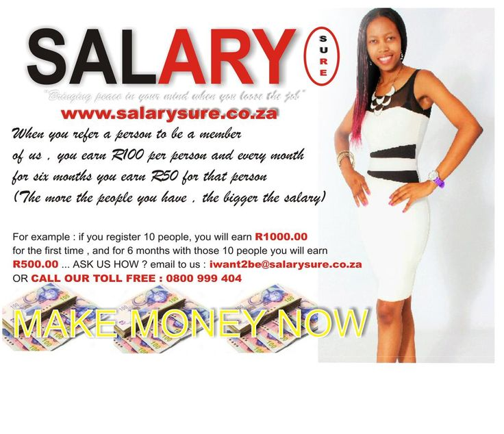 Woke up and work hard #salarysure gives you an opportunity to work and earn as much as you can   Join our team now