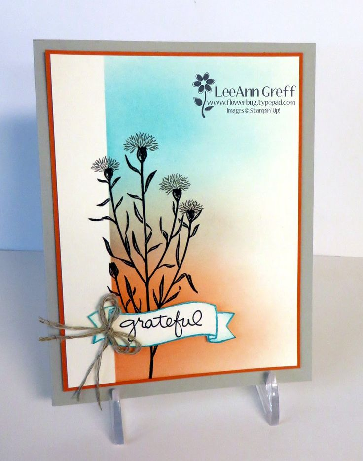 Card Making Ideas With Flowers Part - 22: Wild About Flowers Sponged Card