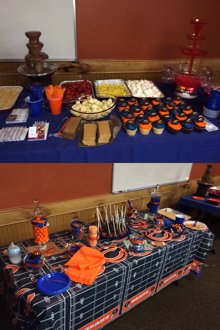 Jaden 11th bday Chicago bears candy tables in 2019 | Bear ...
