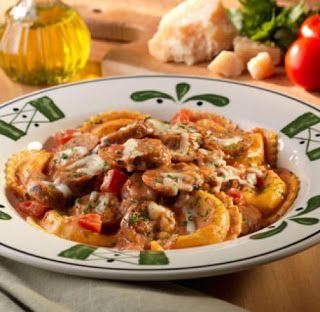Olive Garden Copycat Recipes Stuffed Mezzaluna Pastas Shrimp White